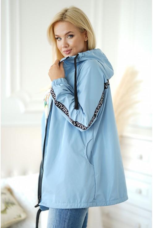 bok jasnoniebieskiej kurtki xxl