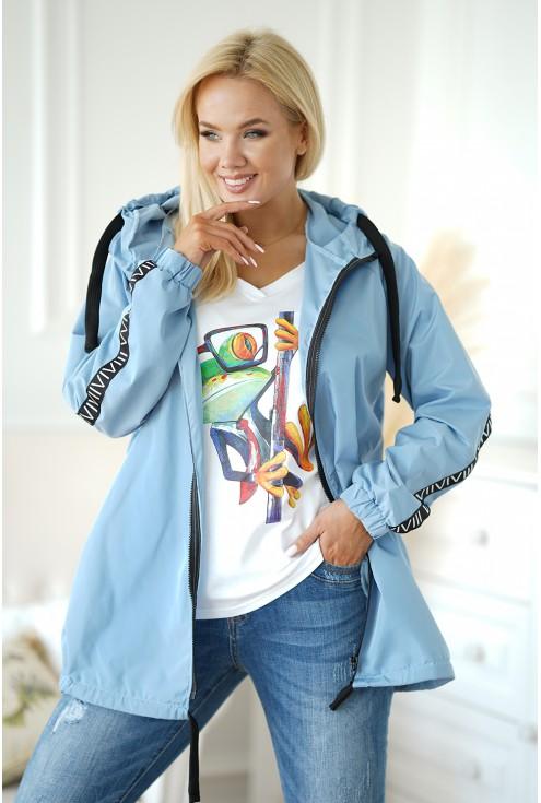 jasnoniebieska kurtka na suwak xxl