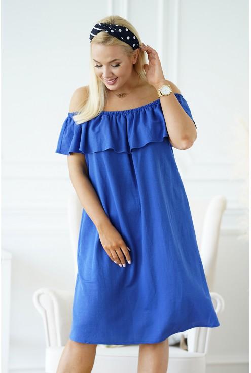 chabrowa sukienka plus size xl