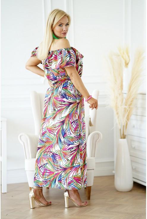 tył kolorowej sukienki hiszpanki plus size