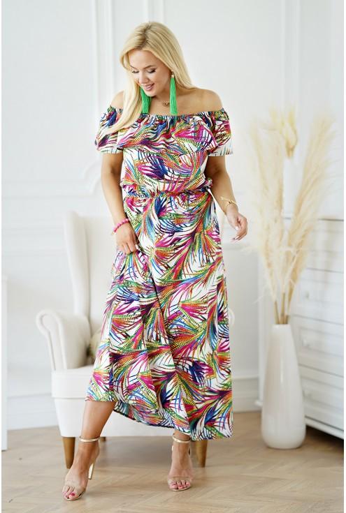 sukienka hiszpanka maxi w kwiaty sklep xlka