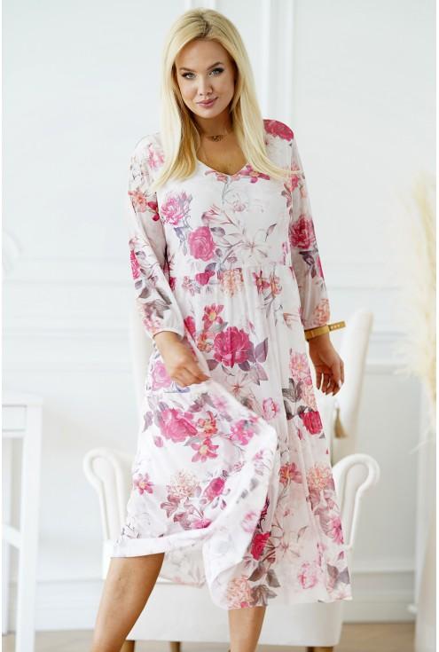sukienka w róże plus size xxl