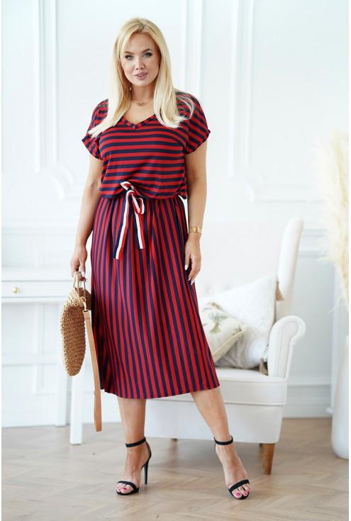 bordowo-granatowa sukienka maxi