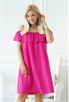 różowa sukienka hiszpanka merisa