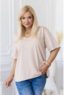 beżowy t-shirt plus size xxl
