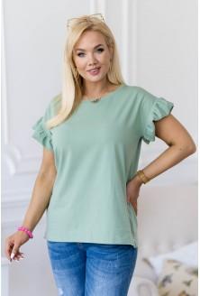 Zielona bluzka z falbaną