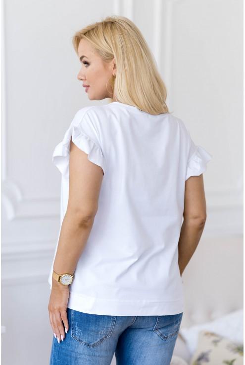 biała bluzka plus size