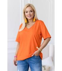 Pomarańczowa bluzka z dekoltem V - ERISA