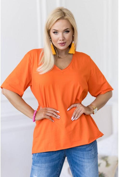 Pomarańczowa bluzka plus size