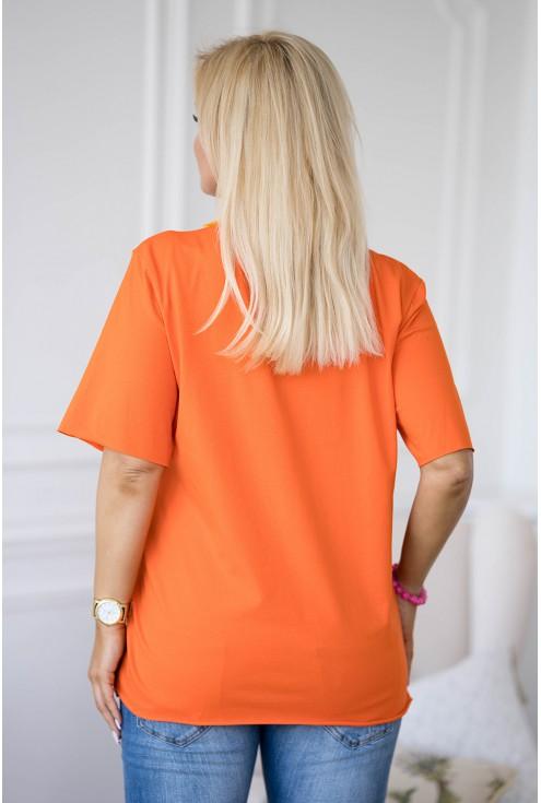 tył pomarańczowej bluzki XXL Erisa