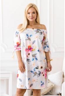 Jasnoniebieska sukienka hiszpanka