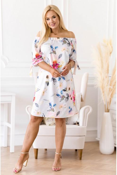 sukienka hiszpanka w kwiaty - Rosela