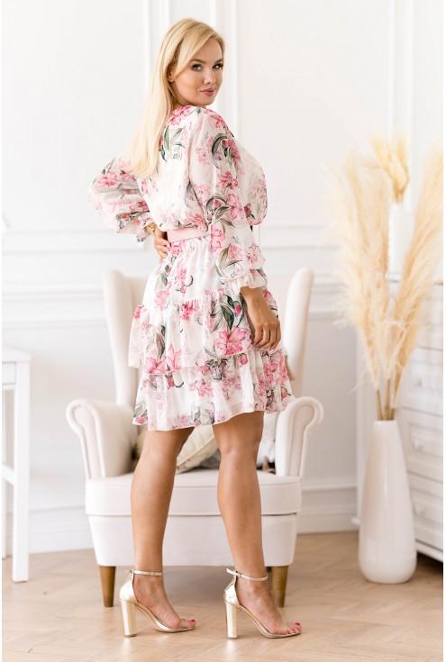 sukienka w kwiaty XXL