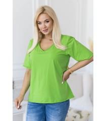 Zielona bluzka z dekoltem V - ERISA