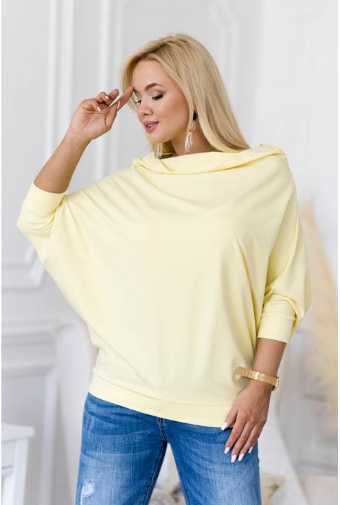 Cytrynowa bluzka z dekoltem woda xxl