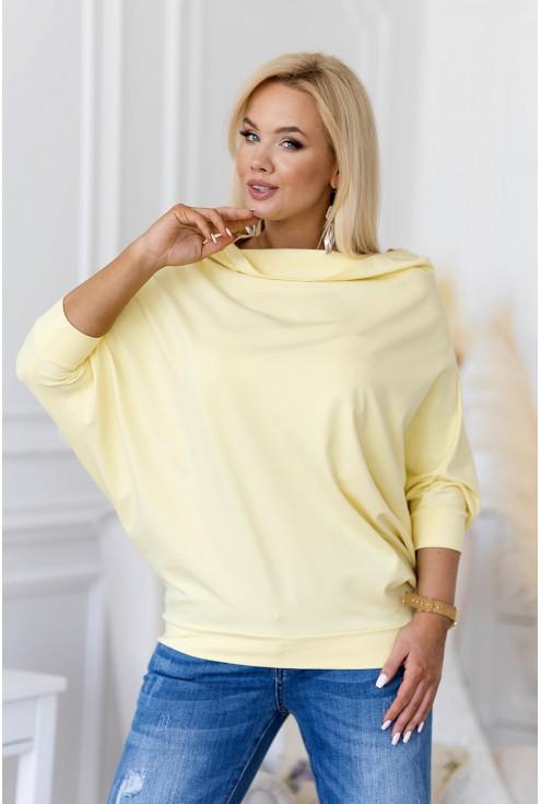 cytrynowa bluzka w dużych rozmiarach