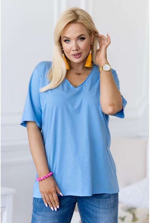 niebieska bluzka plus size
