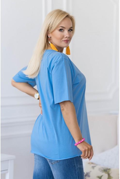 niebieska bluzka oversize XXL