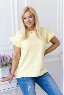 Cytrynowa bluzka z falbaną  Ferri