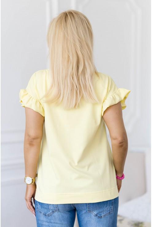 cytrynowa bluzka plus size Ferri