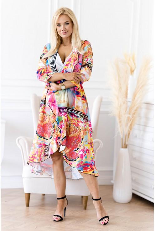 Asymetryczna sukienka z falbanką