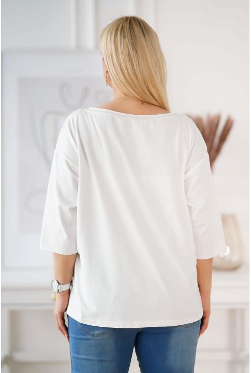kremowa bluzka plus size Ingrid