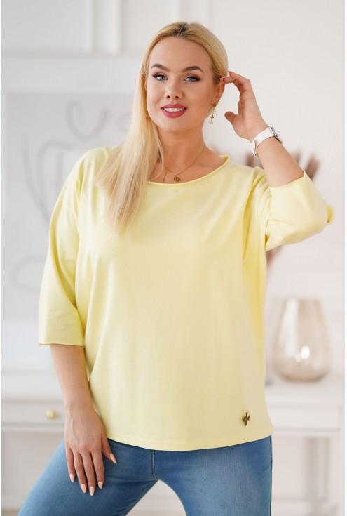 Cytrynowa bluzka ze złotą przywieszką