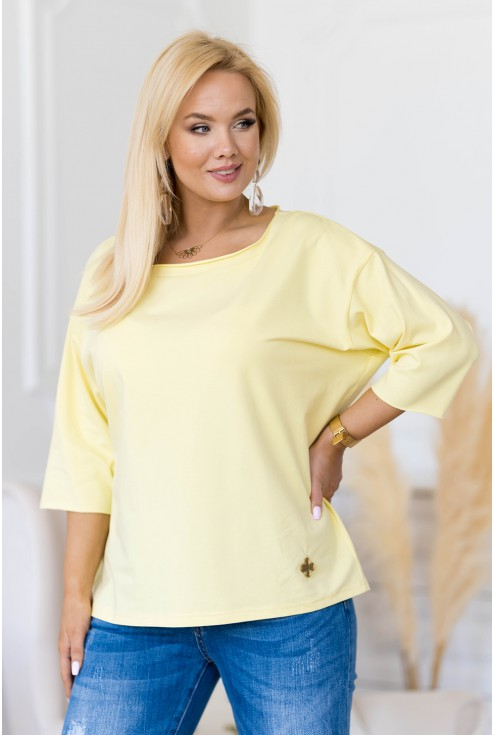 cytrynowa oversizowa bluzka