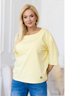 cytrynowa bluzka plus size