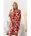Sukienka w kolorowe kwiaty z tasiemką na plecach - Shanti