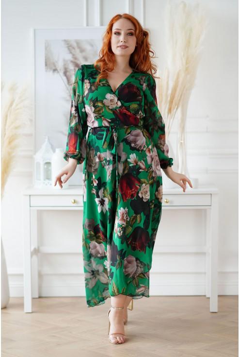 sukienka w kwiaty Anhela