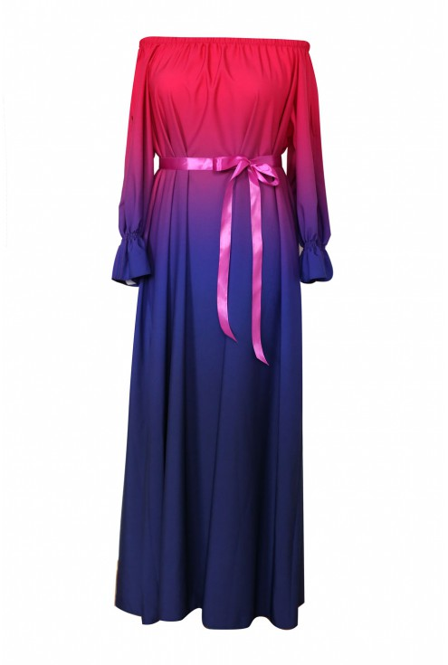 sukienka maxi pandora ombre