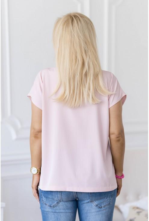 tył klasycznej pudrowej bluzki XXL