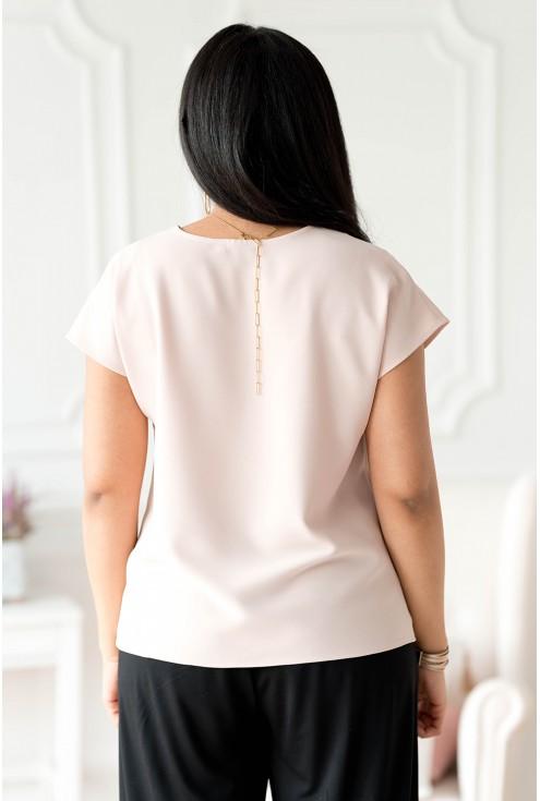 tył beżowej bluzki plus size Felipa