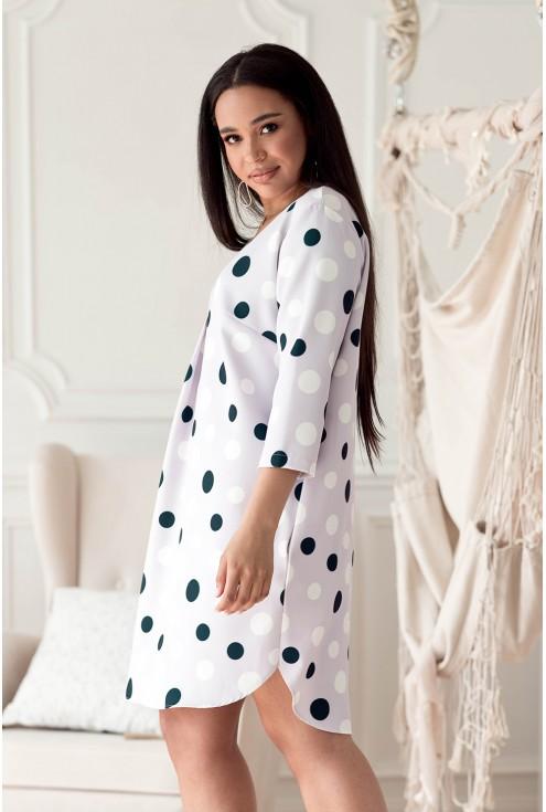 liliowa sukienka plus size