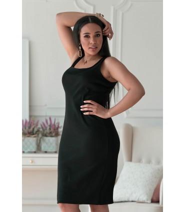 Czarna dopasowana sukienka z prążkiem - Ardell