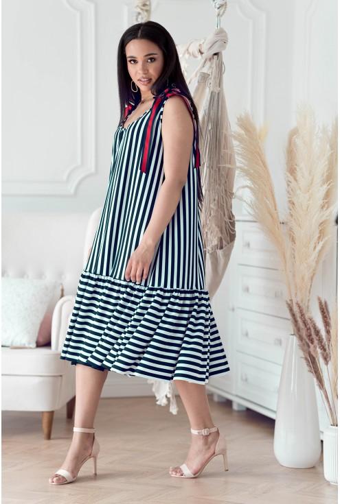 sukienka XXL w paski Daffi