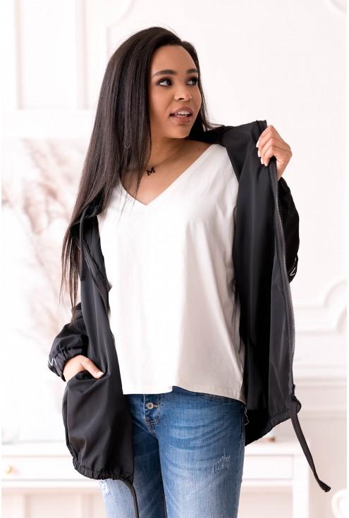 Duża czarna kurtka xxl