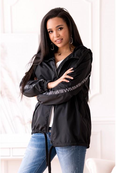 Duży rozmiar czarna kurtka plus size