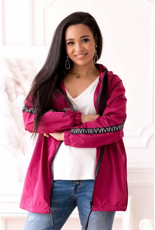 różowa kurtka przeciwdeszczowa plus size