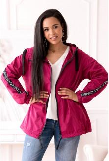 różowa kurtka przeciwdeszczowa plus size xxl