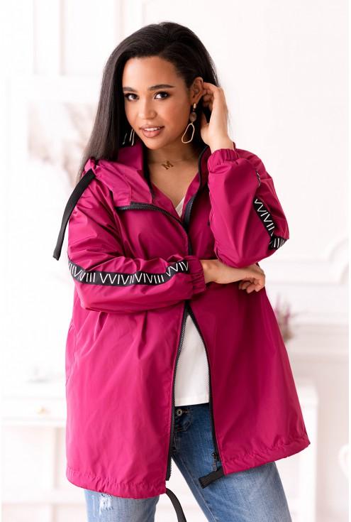 Wygodna różowa kurtka w dużym rozmiarze