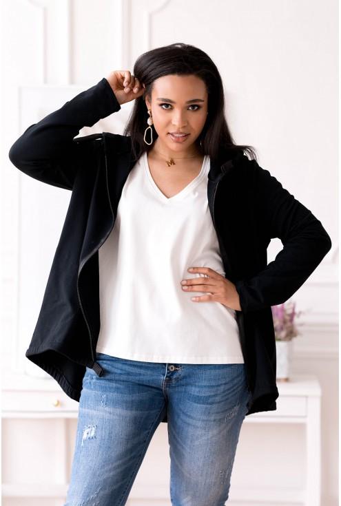 Czarna duża bluza plus size