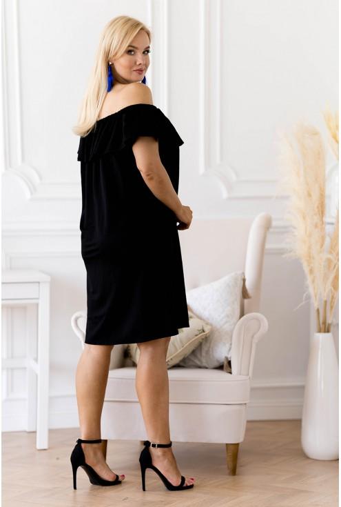 tył czarnej sukienki XXL Merisa