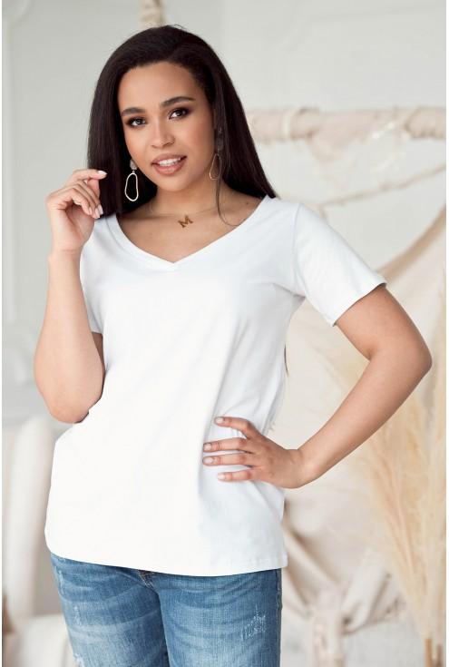 biała bluzka XXL Cler