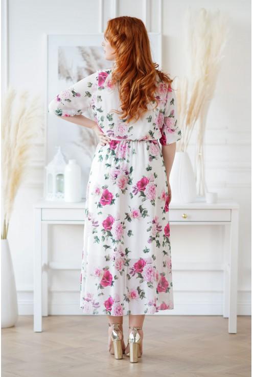 Kremowa sukienka Adela