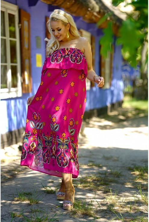 różowa hiszpanka z modnym wzorem