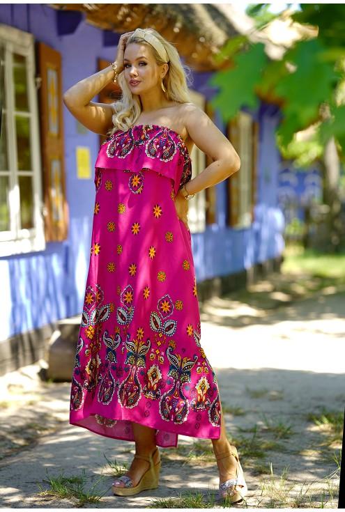 różowa modna hiszpanka plus size