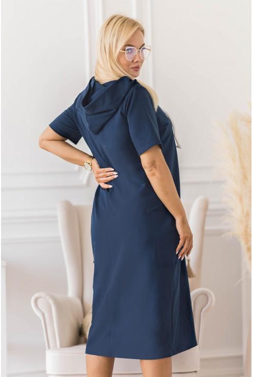sukienka plus size z kapturem