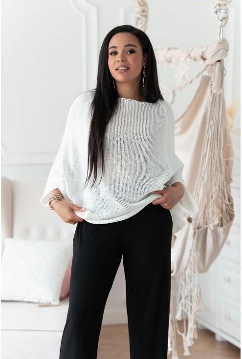 biały sweterek plus size Camila